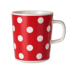 Marimekko mugs & cups are a fun way to enjoy your morning coffee. Top rated retailer of Marimekko mugs, cups, and dinnerware. Red Energy, Red Mug, White Cups, Porcelain Mugs, Marimekko, Crate And Barrel, Crate Bar, Mug Cup, Scandinavian Design