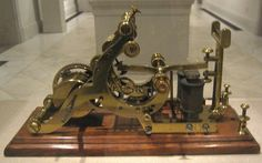 """pictures of telegraph machine   Detail from """"Men of Progress,"""" painted by Christian Schussele, 1862 ..."""