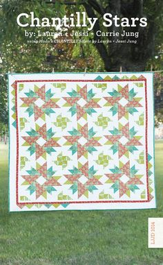 "Chantilly Stars.  The stars are 16"" x 16"" and lovely!"