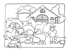 Coloring Page 2018 for Luxurius Granja Colorear 18 For Children with Granja Colorear, you can see Luxurius Granja Colorear 18 For Children with Granja Colorear and more pictures for Coloring Page 2018 at Children Coloring. Preschool Coloring Pages, Free Coloring Pages, Printable Coloring, Drawing Sketches, My Drawings, Baby Farm Animals, Nursery Canvas, Animals Amazing, Farm Theme
