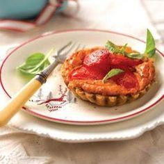 Yummy pesto tomato tarts