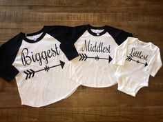 Biggest Middlest Littlest with arrow ragland by TugboatsAndTutus