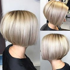 haar bob A gallery of Bob hairstyles. Easy, modern and elegant, this collection includes really chic long bobs, short graduated cut bob ideas, layered or choppy haircut styles and more Just check these prettiest bob haircut ideas and pick your own style: Graduated Bob Haircuts, Short Bob Haircuts, Short Hairstyles For Women, Straight Hairstyles, Men Hairstyles, Short Graduated Bob, Short Bob With Undercut, Modern Bob Hairstyles, Haircut Short