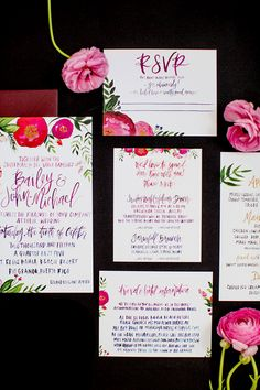 Real Weddings: Bailey & John-Michael // stationery by Shannon Kirsten