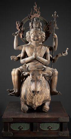 #buddhist #art   Daiitoku myōō statue, 1251~1299, #Japan