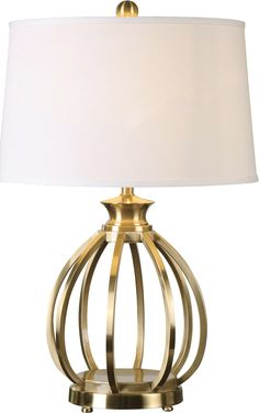 """Decimus 28"""" H Table Lamp with Empire Shade"""