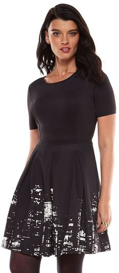 Elie tahari for designation nyc skyline fit  flare dress - womens is on sale now for - 25 % ! reminds me of Grace's design on Project Runway: Threads