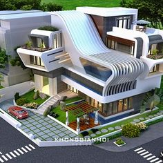 Modern home design Best Modern House Design, Classic House Design, Modern Villa Design, Modern Minimalist House, Dream Home Design, 3 Storey House Design, Bungalow House Design, Modern Bungalow, House Front Design