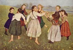"""Hans Thoma - """"Der Kinderreigen"""" (1884) (2346×1627)"""