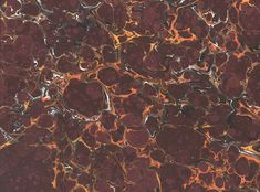Stone Marble by Galen Berry:  Gives the effect of real marble.  Stone marbles are the simplest patterns, but they often take longer to make than the more complex combed patterns, because so many thousands of tiny droplets of color must be applied.