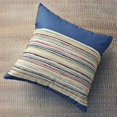 Outdoor cabana stripe pillow by West Elm $39
