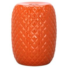 With a quilted design, this glossy ceramic garden stool pairs contemporary style with a touch of luxe texture. Use it in the living room as a colorful side t...