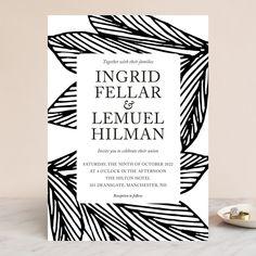 """vivid leaves"" - Wedding Invitations in Ink by aticnomar."