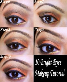 10 Best Step Bright Eyes Makeup Tutorial. Would be cute if done right