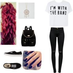 5 Seconds of summer concert outfit by kayla-kn on Polyvore featuring polyvore fashion style J Brand Vans Forever New Full Tilt Lottie