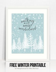 Winter Wonderland Printable by Live Laugh Rowe | Christmas printable |Christmas decor