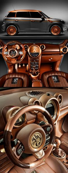 """Steampunk-styled"" Mini Countryman, by Carlex Design. Additional photos here…"