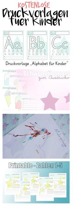 Kostenlose Druckvorlagen für Kinder, Beschäftigungsideen, Zahlen und Buchstaben lernen, Einhorn Malvorlage