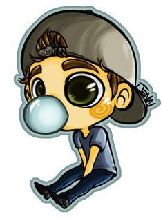 Paul Wesley's bubble gum habits. (© JENN 2012. Please do not steal/repost!)