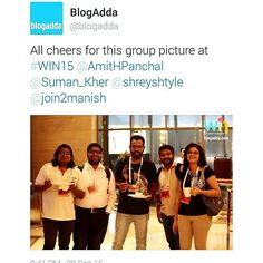 Had a blast at the @blogadda #win15 event thanks a lot @blodadda for letting us be a part of you social media team. Now #SMW15 and #tedx to look forward to.  #20likes #HTers #HashTags #all_shots #amazing #bestoftheday #follow #follow4follow #followme  #instacool #instadaily #instafollow #instago #instagood #instalike #like #like4like #look #love #me #photooftheday #picoftheday #style #swag #tweegram #webstagram by telangpratik