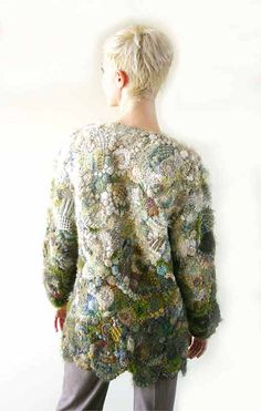 Prudence Mapstone - Freeform Knitting by ritari Beau Crochet, Mode Crochet, Crochet Cape, Freeform Crochet, Irish Crochet, Knit Crochet, Crochet Geek, Crochet Designs, Crochet Patterns