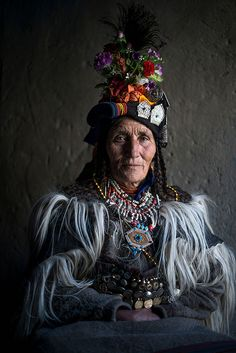 Drokpa woman from northern India.  photographer Mattia Passarini
