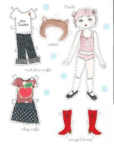Black Apple Paper Dolls by theblackapple on Etsy