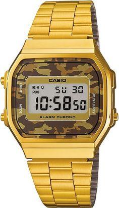 Casio A168WEGC-5EF Retro dames horloge op Horlogeloods.nl!