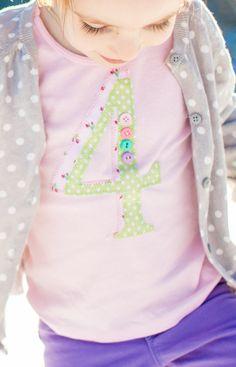 Girls birthday shirt Girls birthday Birthday Number by 40WinksbyJ