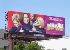 The Unbreakable Kimmy Schmidt is back for her third season and it looks like her positive spirit is as undaunted as ever, rolling up her . Unbreakable Kimmy Schmidt, Season 3, Billboard, Consideration, Tv, Poster Wall, Television Set, Television