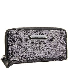 Betsy Johnson Glitzy Zip Around Wallet and Clutch...  Fun night out bag!