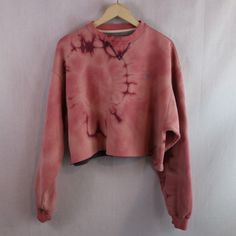 2289adbe31fda4 Custom Bleached   Cropped Champion Logo Pullover Sweatshirt Free Shipping  Originally men's size XL Could fit