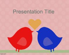 I love you powerpoint background template for love presentations free love birds powerpoint template is a free powerpoint background template that you can download to toneelgroepblik Choice Image