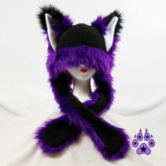 Pawstar FOX YIP Hat III You Pic Color White Black Gray by pawstar