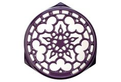 "9"" Deluxe Round Trivet, Cassis"