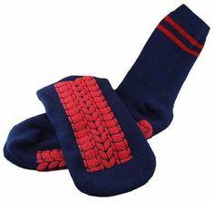 Men's Non-Skid Socks - Navy