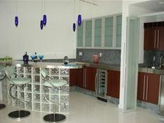 #cocinas Diseño de cocina con barra de cocina