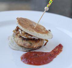 "Salmon Slider at Indique in cleveland Park. Tomato chutney yogurt""tartare"""