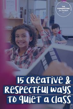 15 creative & respectful ideas for keeping the classroom quiet. All these tips work amazingly well for controlling noise levels and keeps everyone, including you --the teacher, happy! Classroom Routines, Classroom Management Strategies, Classroom Procedures, Class Management, Teaching Strategies, School Classroom, Teaching Tips, Classroom Ideas, Classroom Organization