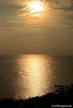 shining ocean  Sunset, Zamami island, Okinawa, Japan
