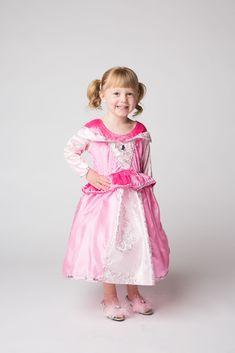 Sleeping Princess Aurora Toddler Pink Cute Fancy Dress with //N wand crown