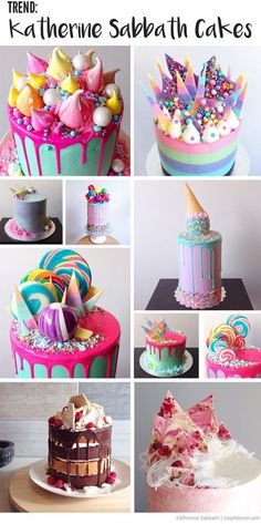 Bondville: Trend: Katherine Sabbath-Style Crazy Cakes (Home Baking Cookies) Crazy Cakes, Fancy Cakes, Pretty Cakes, Cute Cakes, Beautiful Cakes, Amazing Cakes, Cake Cookies, Cupcake Cakes, Nake Cake