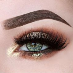 Gold eye makeup #eyes #eye #makeup #bold #dramatic