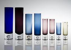 Tapio Wirkkala Cylinder Bubble Vases