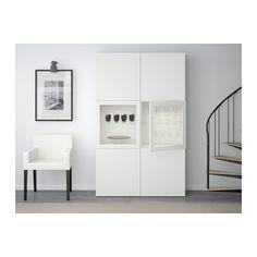 3100 kr  120x40x192 cm BESTÅ Förvaringskombination med glasdörr - Lappviken/Sindvik vit klarglas - IKEA
