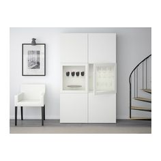 BESTÅ Storage combination w/glass doors - Lappviken/Sindvik white clear glass - IKEA