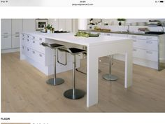 Quantum Floors Supplies and Expertly Installs Palm Beach Flooring from Our Boynton Beach & Palm Beach Gardens Stores Flooring Store, Laminate Flooring, Kitchen Flooring, Kitchen Dining, Palm Beach Gardens, Plank, Interior Design, House Styles, Table