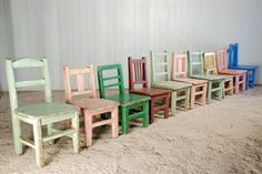 Painted Children's Chairs - Vintage Children's Furniture - Original House