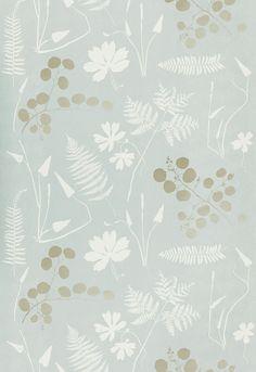 Wallcovering / Wallpaper | Modern Botanical in Slate | Schumacher @Ashlee Stubits powder