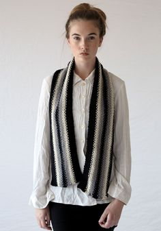 Make the Old School Scarf using Jo Sharp Mulberry Silk Georgette yarn. Hand Knitting Yarn, Knitting Patterns, Mulberry Silk, Old School, Blazer, Sweaters, How To Make, Jackets, Collection